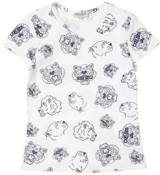 Kenzo Tigers Printed Cotton Jersey T-Shirt