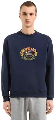 Burberry Runway Badge Cotton Sweatshirt