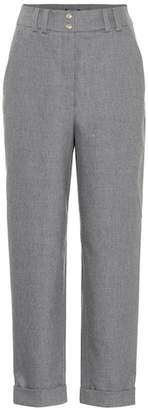Balmain High-waisted wool pants