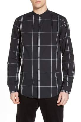 CALIBRATE Trim Fit Windowpane Sport Shirt