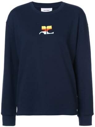 Courreges logo embroidered sweatshirt