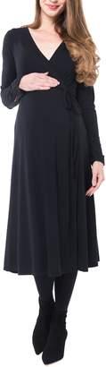 Nom Maternity Tessa Jersey Maternity/Nursing Wrap Dress