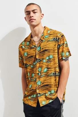 Insight Hotel California Rayon Short Sleeve Button-Down Shirt