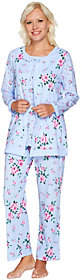 Carole Hochman Cotton Floral TwinPrint 3 Pc PJ