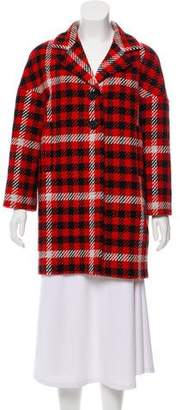 Tara Jarmon Houndstooth Wool-Blend Coat w/ Tags