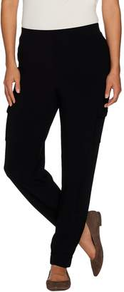 Susan Graver Petite Textured Liquid Knit Cargo Pants