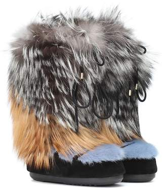 Yves Salomon x Moon Boot® mink fur boots