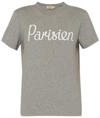MAISON KITSUNÉ Parisien Cotton T Shirt - Mens - Grey