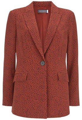 Mint Velvet Flossy Print Tailored Blazer