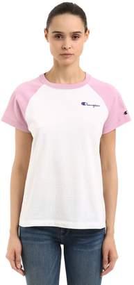 Champion Logo Detail Light Cotton Jersey T-Shirt