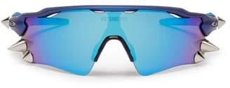 Vetements X Oakley Spikes 200 D Frame Acetate Sunglasses - Mens - Blue
