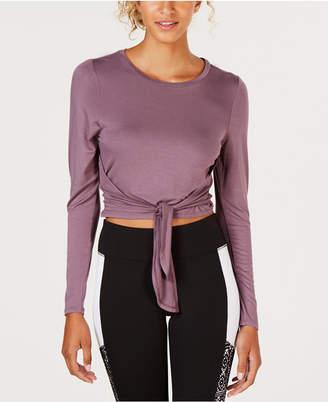 Material Girl Juniors' Tie-Front Crop Top, Created for Macy's