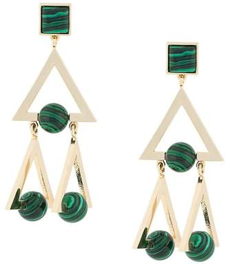 Tory Burch studded stone earrings