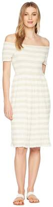 Lucky Brand Stripe Smocked Dress Women's Dress