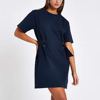 River Island Navy drawstring waist mini dress