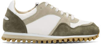 Spalwart White and Brown Marathon Trail Low Sneakers