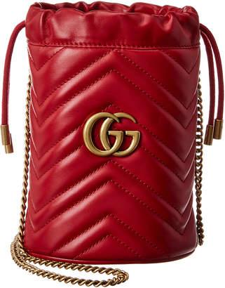 Gucci Gg Marmont Mini Matelasse Leather Bucket Bag