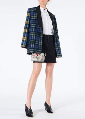 Tibi Black Denim Mini Skirt