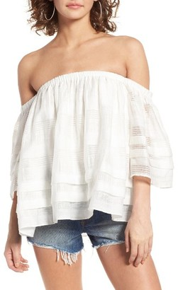 Women's J.o.a. Tiered Off The Shoulder Top $65 thestylecure.com