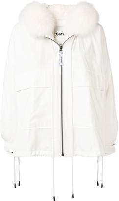 Yves Salomon Army oversized hooded jacket