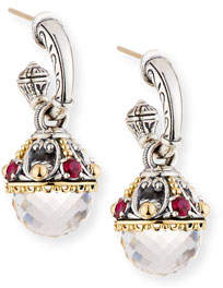 Konstantino Pythia Corundum & Crystal Drop Earrings