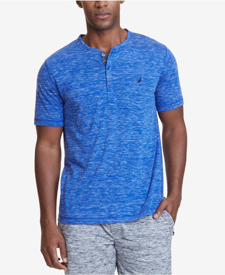 Nautica Men's Space-Dyed Henley Pajama Shirt $34 thestylecure.com