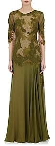 Alberta Ferretti WOMEN'S LACE & CHIFFON GOWN SIZE 38 IT