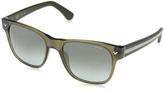 Police Sunglasses Men's SPL164 Stripe 1 Wayfarer Sunglasses