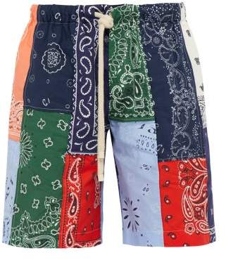Loewe Bandana Cotton Shorts - Mens - Multi