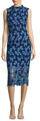 Shoshanna Floral Lace Midi Dress $450 thestylecure.com
