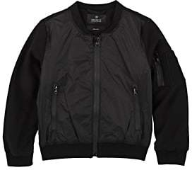 Barneys New York Kids' Tech-Fabric Bomber Jacket-Black