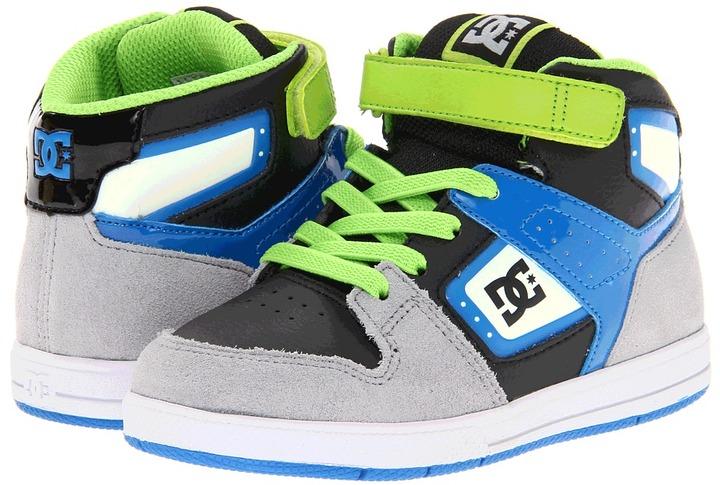 DC Kids - Destroyer HI SE (Toddler) (Black/Blue) - Footwear