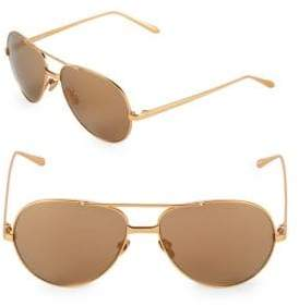 Linda Farrow 59MM Aviator Sunglasses