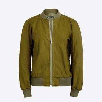 J.Crew Factory Satin bomber jacket