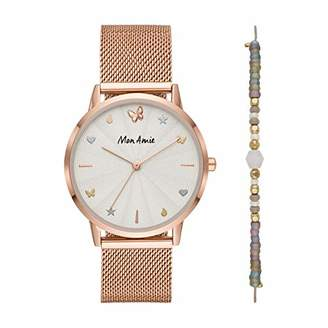 Mon Amie Women's 'Supports Opportunity' Quartz Metal and Stainless Steel Casual Watch