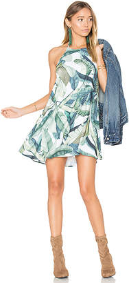 Show Me Your Mumu Katy Halter Dress in Green $136 thestylecure.com