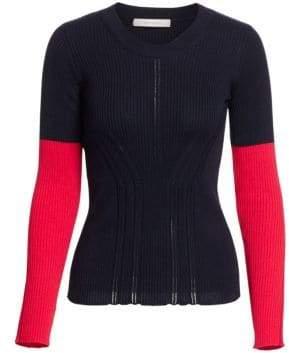 Cédric Charlier Colorblock Rib-Knit Sweater