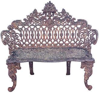 One Kings Lane Vintage Victorian Iron Garden Bench - Vermilion Designs