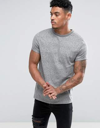 Asos Design T-Shirt With Roll Sleeve In Heavyweight Twisted Jersey
