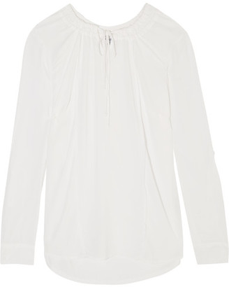 Splendid - Voile Blouse - White $150 thestylecure.com
