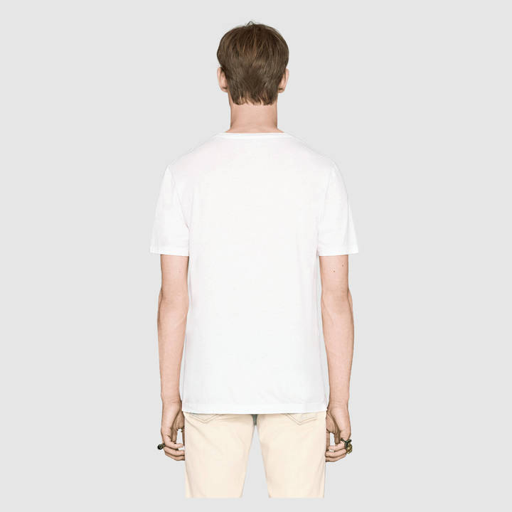 Washed t-shirt with Gucci print 7