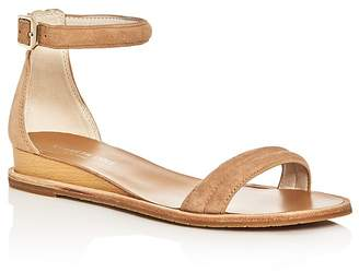 Kenneth Cole Women's Jenna Suede Ankle Strap Demi Wedge Sandals