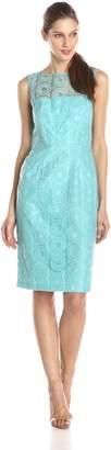 Maggy London Women's Circle Dot Organza Sheath Dress