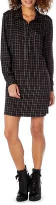 Michael Stars Plaid Henley Shirtdress