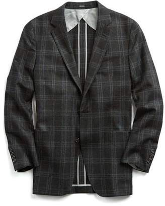 Todd Snyder Black Label Sutton Black Label Unconstructed Sport Coat in Charcoal Plaid Wool
