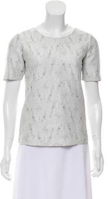 Calvin Klein Collection Short Sleeve Scoop Neck Top