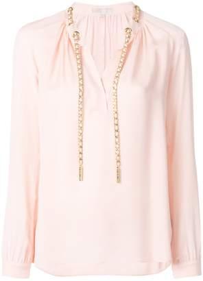 MICHAEL Michael Kors chain appliqué blouse