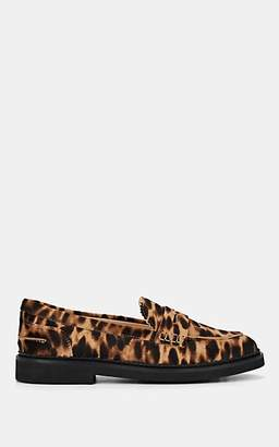 Tod's Women's Leopard-Print Calf Hair Loafers