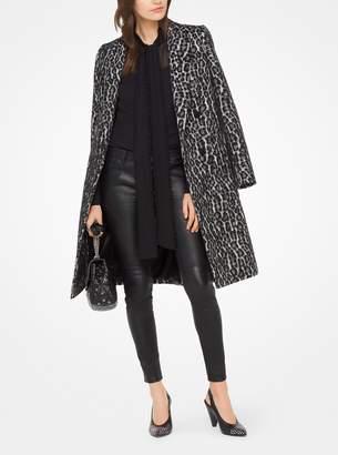 MICHAEL Michael Kors Snow Leopard Jacquard Coat