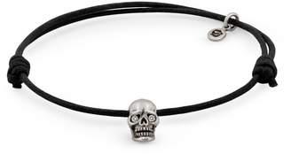 Snake Bones - Skull Bracelet Oxidized Silver Diamond Eyes